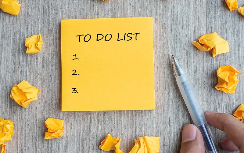 Holiday Weekend To-Do List